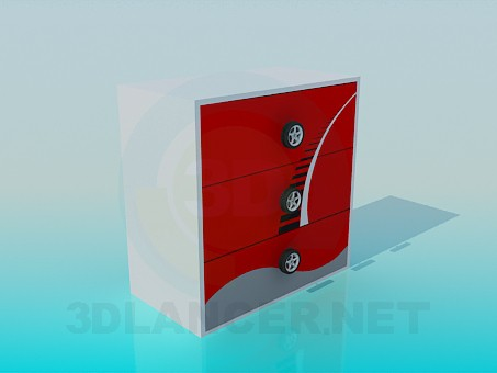 3d model Cupboard for boy's room - preview