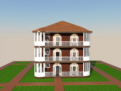Una casa de tres pisos