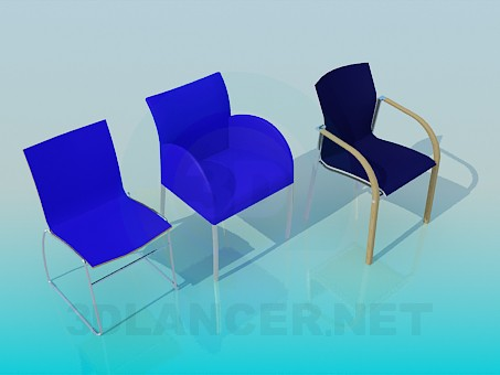 3d model Office chairs - preview
