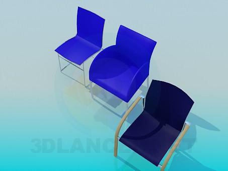 3d модель Стільці в офіс – превью