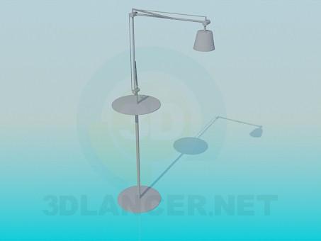 3D Modell Desktop-Stehleuchte - Vorschau