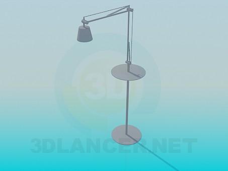 3d модель Настольно-напольная лампа – превью