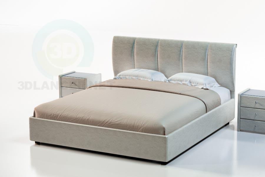 3d моделирование Кровать Таити модель скачать бесплатно