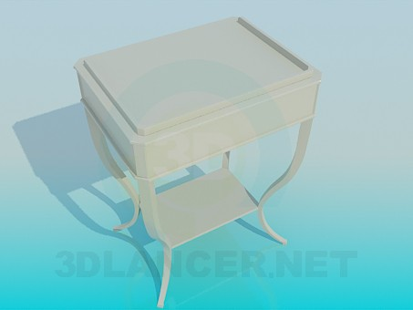 3d модель Столик для газет – превью