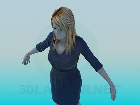 3d model Mannequin in a dress - preview