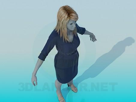 3d модель Манекен в платье – превью