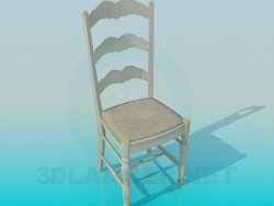Chair with high backrest