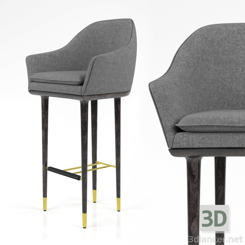 3d Stellar Works - Lunar Bar Chair model buy - render