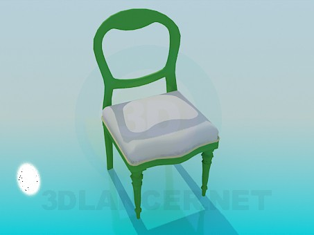 3d modeling Chair with padded model free download
