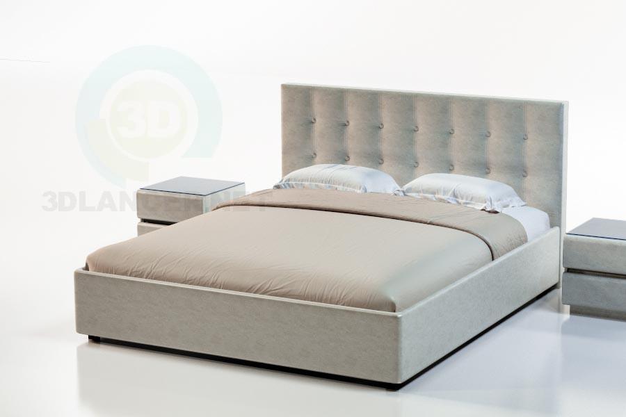 3d модель Кровать Токио – превью