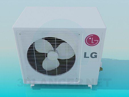 3d model Outdoor unit air conditioner LG - preview