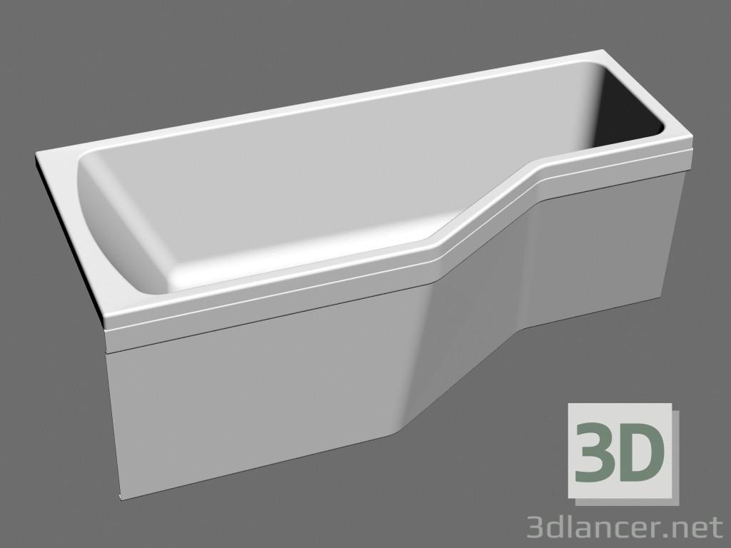 3d model Bañera asimétrica encantado VANA-1600 R - vista previa