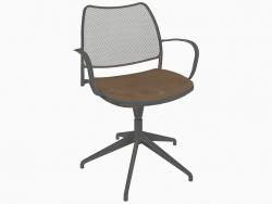 Chaise de bureau avec structure chromée (pivotante) (B)