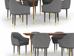 Stellar Works Lunar Lounge table and chairs