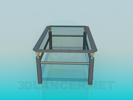 3d model Table with double tabletop - preview