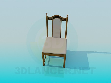 3d model Upholstered chair - preview