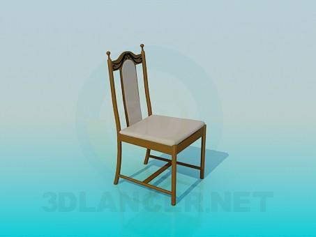 modelo 3D Silla tapizada - escuchar