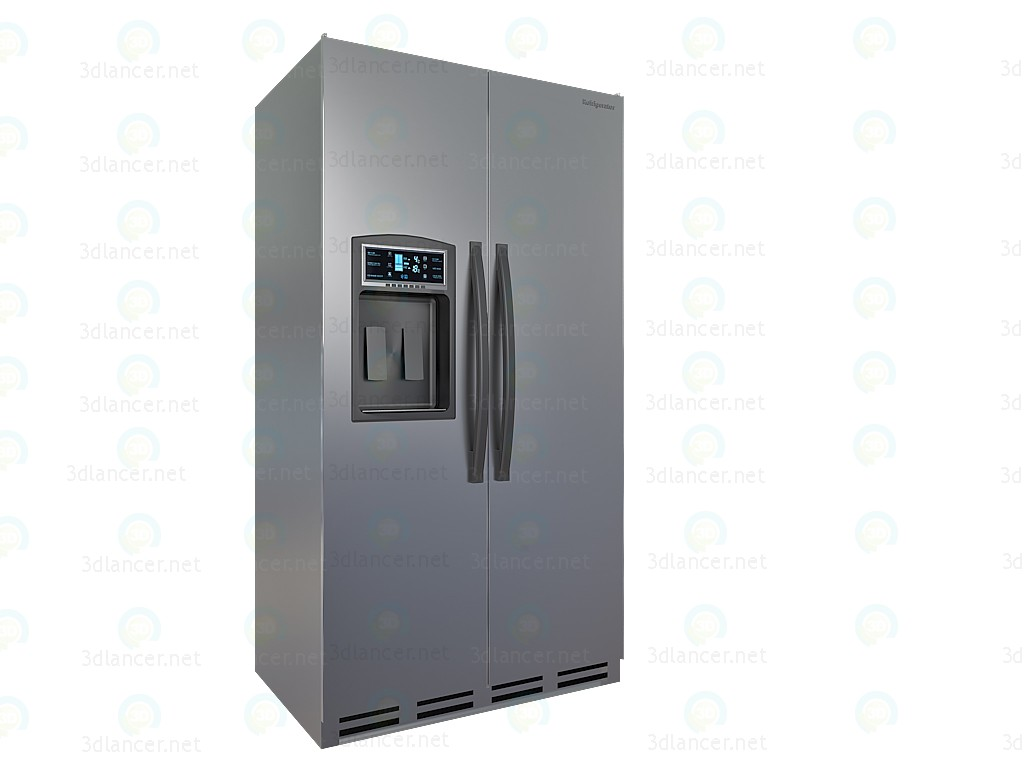 3d Refrigerator Side by Side 3DS Model model buy - render