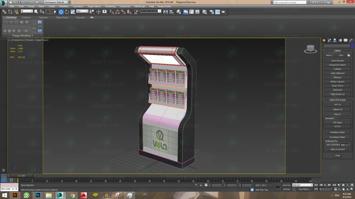 3d model Magazine Rack - preview