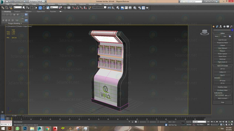 3d модель Стеллаж для журналов – превью