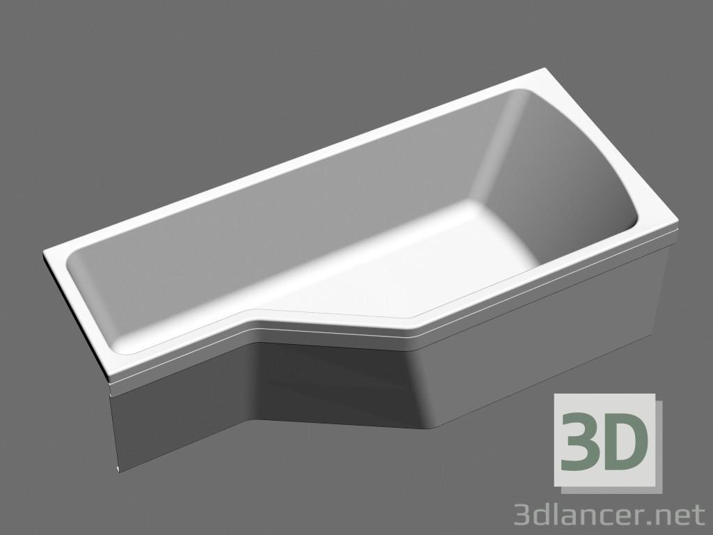 3d model Bañera asimétrica encantado VANA-1700 L - vista previa