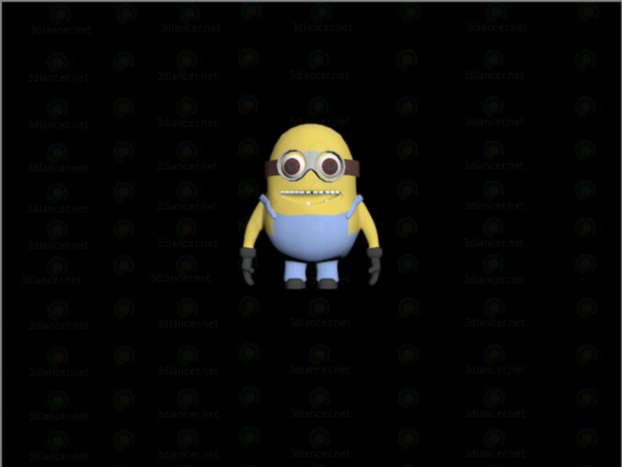 3d modeling Minion model free download