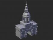 मास्को। Danilov मठ। शिमोन द स्टाइलिट चर्च