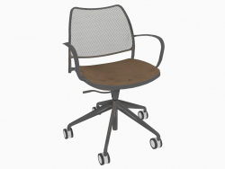 Office chair with chrome frame (on casters) (B)