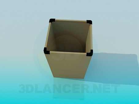 descarga gratuita de 3D modelado modelo Cubo de basura para oficina