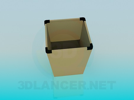 3d model Dustbin for office - preview