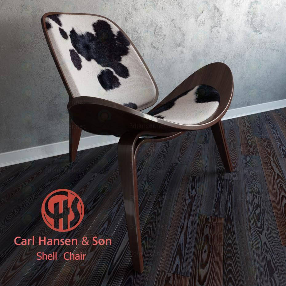 3d Shell Chair модель купить - ракурс