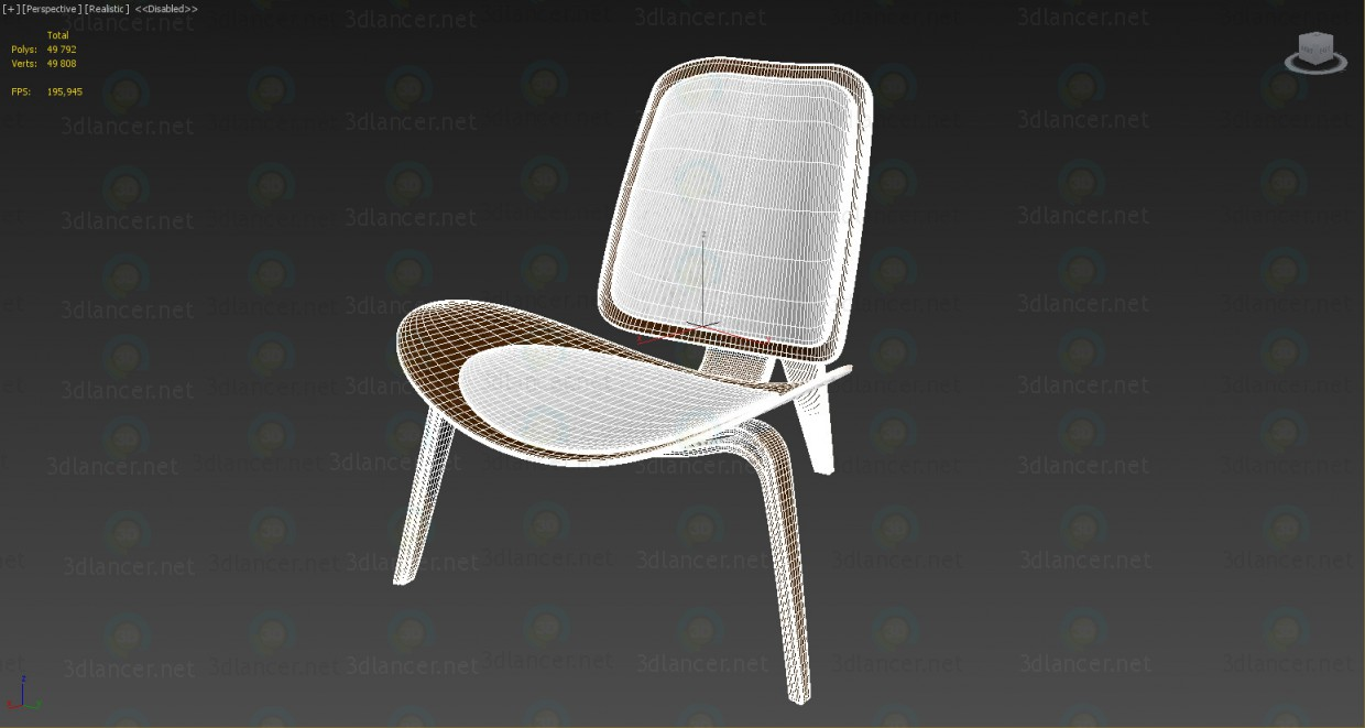 3d Shell Chair model buy - render