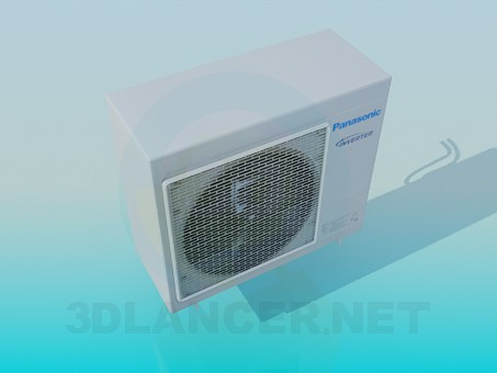 3d model Panasonic air conditioner outdoor unit - preview