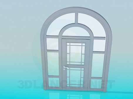 3d modeling Door with arch model free download