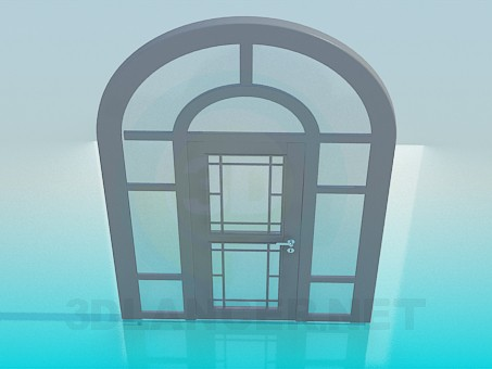 3d model Door with arch - preview