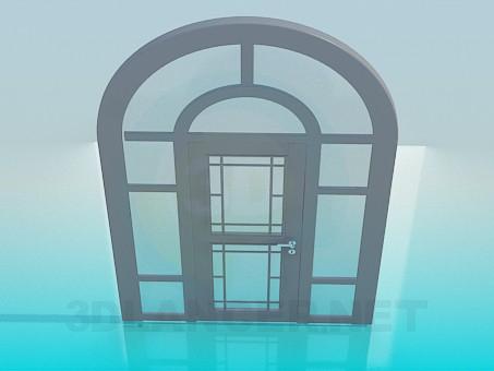 3d модель Дверь с аркой – превью