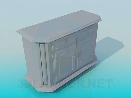 3d model Cabinet under the wall - preview