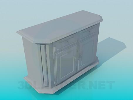 3d модель Тумба под стену – превью