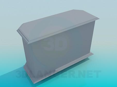 modelo 3D Gabinete en la pared - escuchar