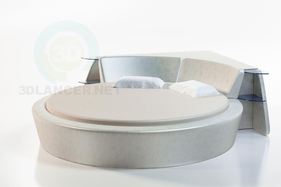 3d моделирование Кровать Бильбао модель скачать бесплатно
