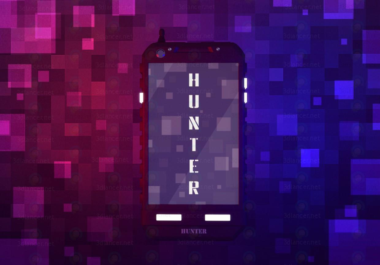 """modèle 3D Téléphone mobile """"Hunter"""" - preview"""