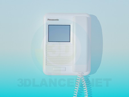 3d модель Домофон Panasonic – превью