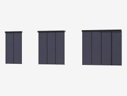 Partição Interroom de A6 (preto transparente marrom escuro)