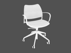 Chaise de bureau avec cadre blanc (sur roulettes)
