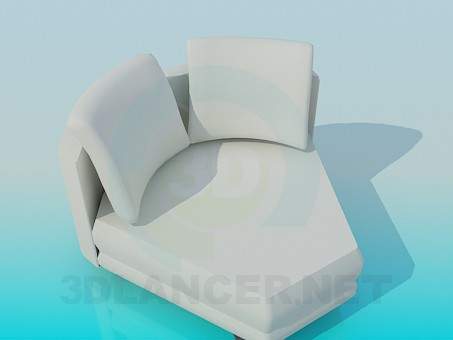 3d model The angular part of the sofa - preview