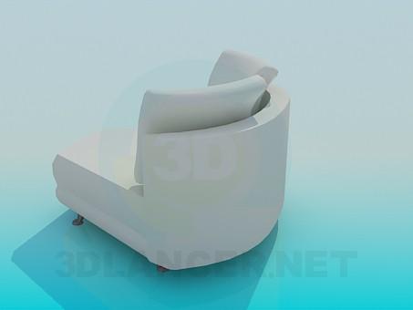 3d модель Угловая часть дивана – превью