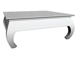 Coffee table Opium 90 x 90, white