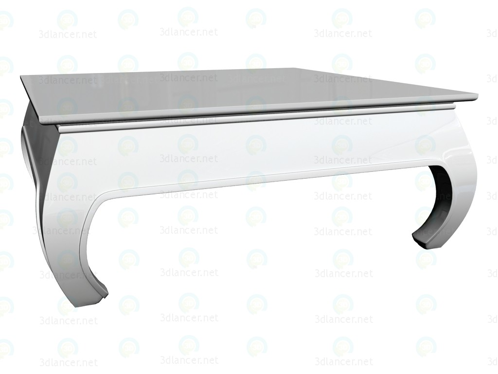 3d model Coffee table Opium 90 x 90, white - preview