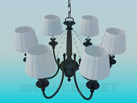 3d modeling Chandelier at 5 bulbs model free download