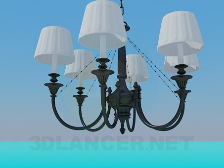 3d model Chandelier at 5 bulbs - preview